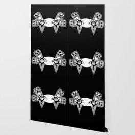 Axolotl maya BLACK Wallpaper