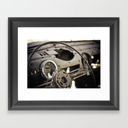 Behind The Wheel Framed Art Print