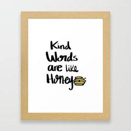 Kind Words Framed Art Print