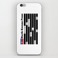 korea iPhone & iPod Skins featuring North Korea News Paper by pollylitical