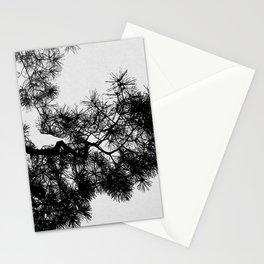 Pine Tree Black & White Stationery Cards