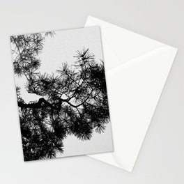 Pine Tree Black & White Stationery Cards