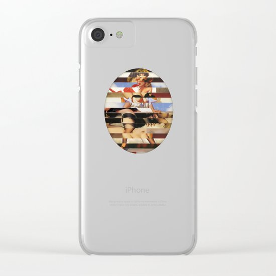 Glitch Pin-Up Redux: Daisy Clear iPhone Case