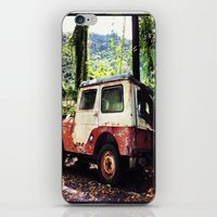 jeep iPhone & iPod Skins featuring Old Jeep by FPSTUDIO