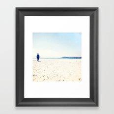 Beach & Blue Framed Art Print