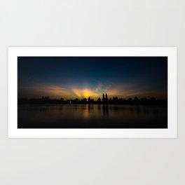 Central Park Sunset Art Print