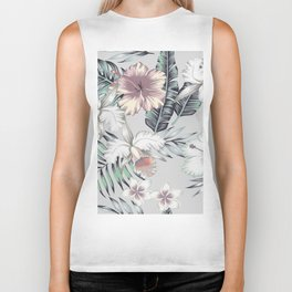 TROPICAL BEAUTY Biker Tank