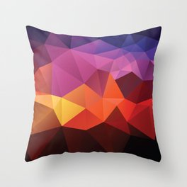 Abstract geometric triangle background Throw Pillow