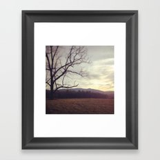 Golden Mountains Framed Art Print