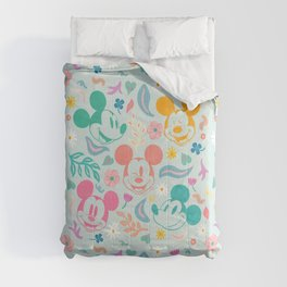 """""""Botanical Mickey Mouse"""" by Sun Lee Comforters"""