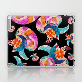pattern with embroidered lilies Laptop & iPad Skin