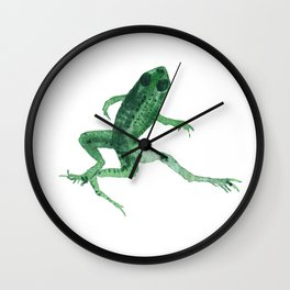 Study of a frog #03 Wall Clock
