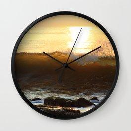 WAVE GOOD MORNING Wall Clock