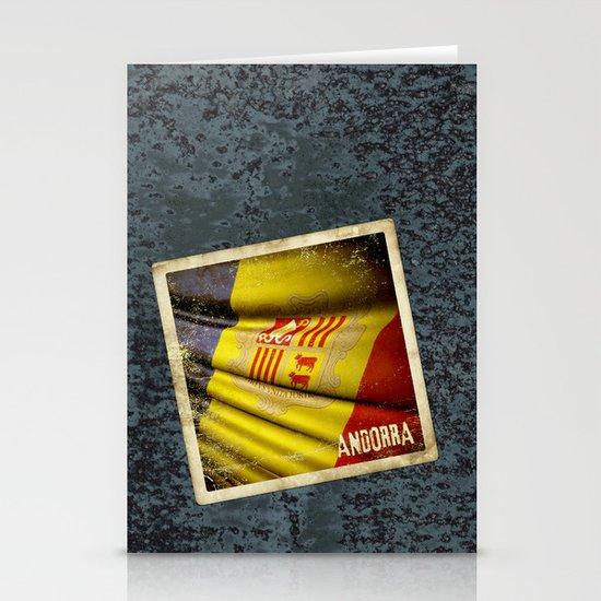 Grunge sticker of Andorra flag Stationery Cards