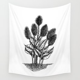 Furry Flowers Wall Tapestry