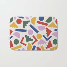 Colorful Geometric Shapes Bath Mat