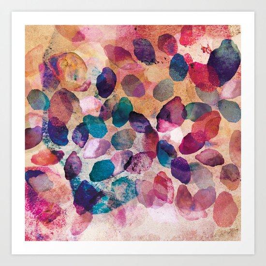 Dazed Crystals Art Print