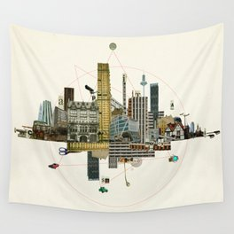 Collage City Mix 8 Wall Tapestry