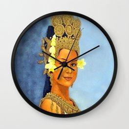 Apsara Girl Wall Clock