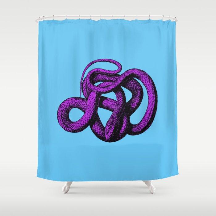 Snek 4 Snake Purple Blue Shower Curtain By Laurabethlove