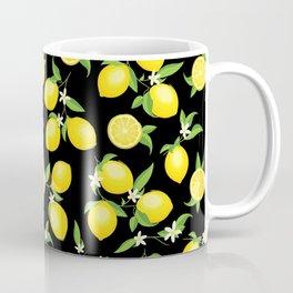 You're the Zest - Lemons on Black Coffee Mug