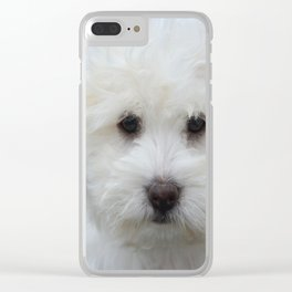 Cute Puppy Clear iPhone Case