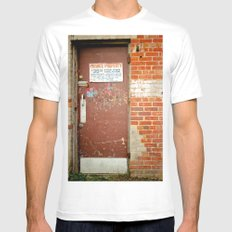 Private Property Mens Fitted Tee MEDIUM White