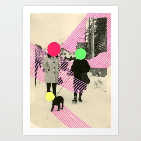 Fluo Conversations Art Print
