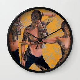 Namaste Hands Wall Clock