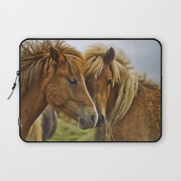 Two horses portrait  Laptop Sleeve