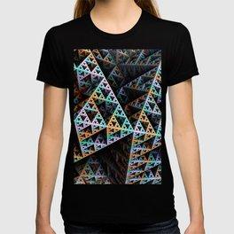 Sierpinski Landscape Fractal Art Print T-shirt