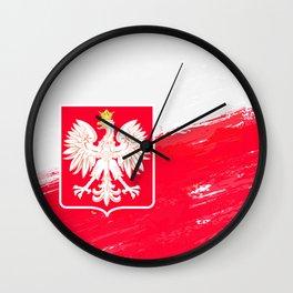 Poland's Flag Design Wall Clock