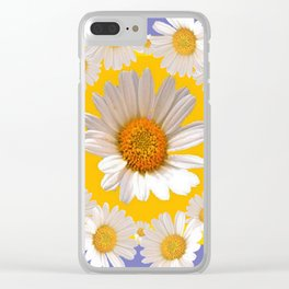 DECORATIVE YELLOW WHITE DAISIES Clear iPhone Case