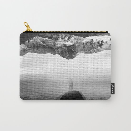 Black and White Ghost of Isolation Carry-All Pouch