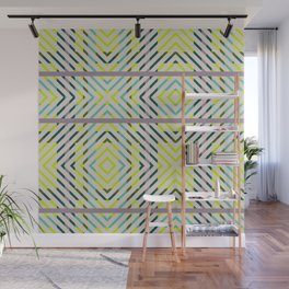 Diagonal Plaid - Orchid Wall Mural