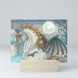 SPELLBOUND Gothic Halloween Unicorn Mini Art Print