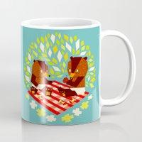 yetiland Mugs featuring picknick bears by Yetiland