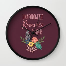 Unapologetic Romance Reader Wall Clock