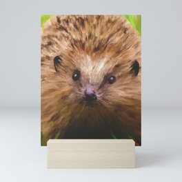Hedgehog in the Grass Mini Art Print