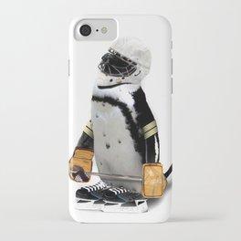 Little Mascot Hockey Player Penguin iPhone Case