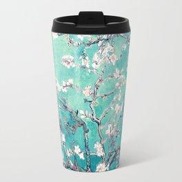 Vincent Van Gogh Almond Blossoms Turquoise Travel Mug