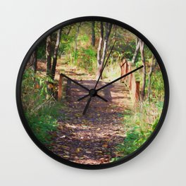 Over The Wooden Bridge Wall Clock