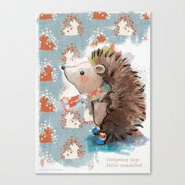 Hedgehog day Canvas Print