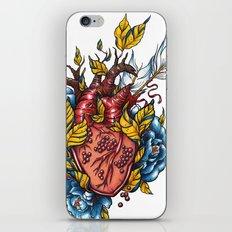 Pomegranate Heart iPhone & iPod Skin