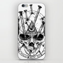 Drive in the Nails by Fred Gonzalez iPhone Skin