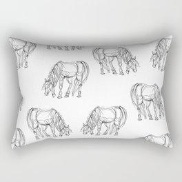 Little Line Horse Rectangular Pillow