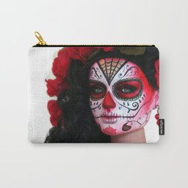 Rojo Sugar Skull Doll Carry-All Pouch