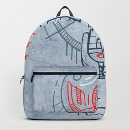 Religious christian symbols and phrase Backpack