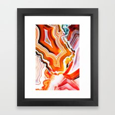 The Vivid Imagination of Nature, Layers of Agate Framed Art Print