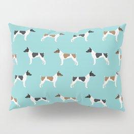 Rat Terrier dog breed pet portrait dog pattern dog breeds gifts for dog lovers Pillow Sham